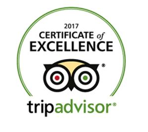 Tripadvisor Cert of Excellence2017
