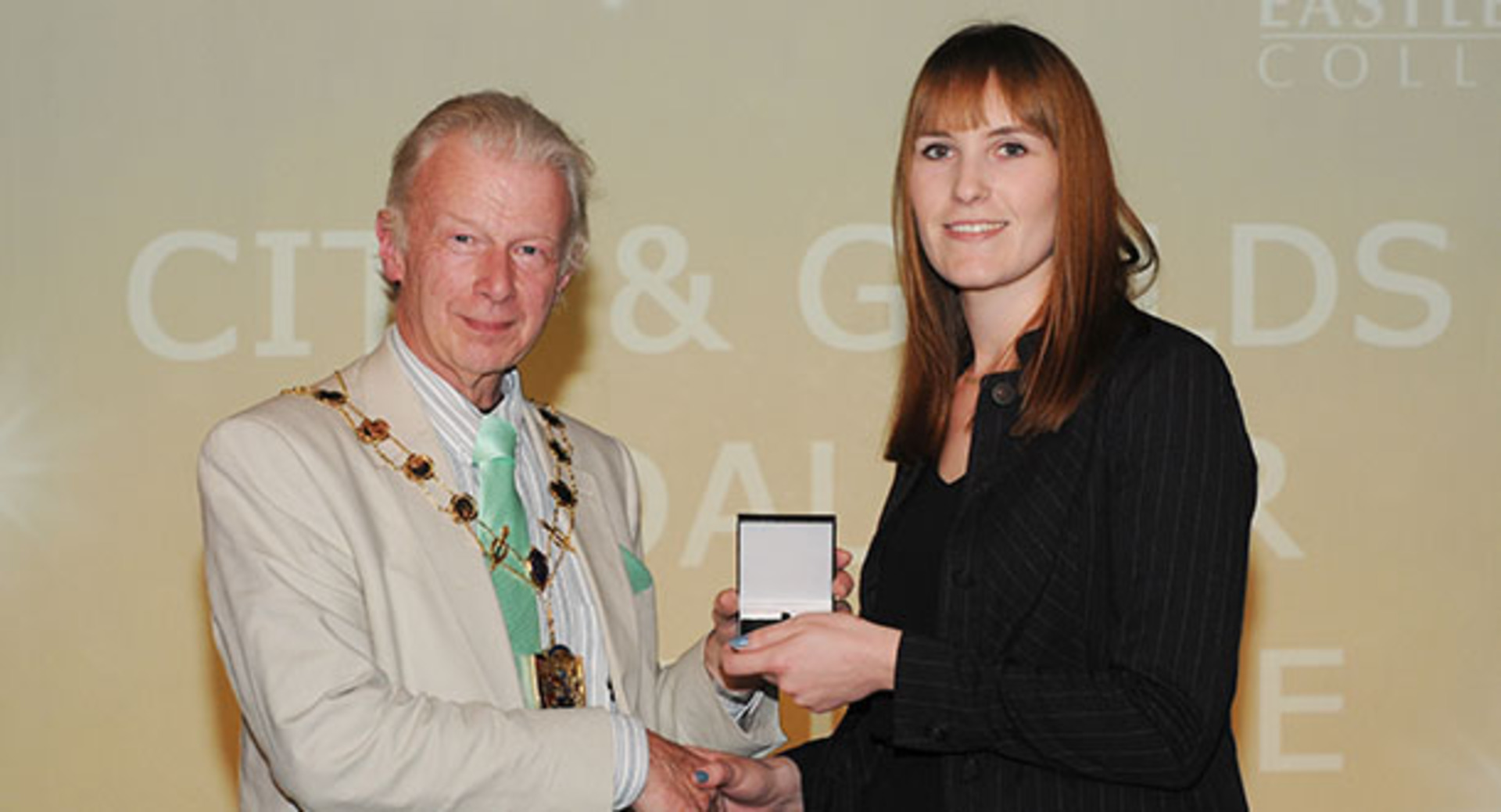 Eastleigh College Student wins prestigious, City and Guilds Medal for Excellence