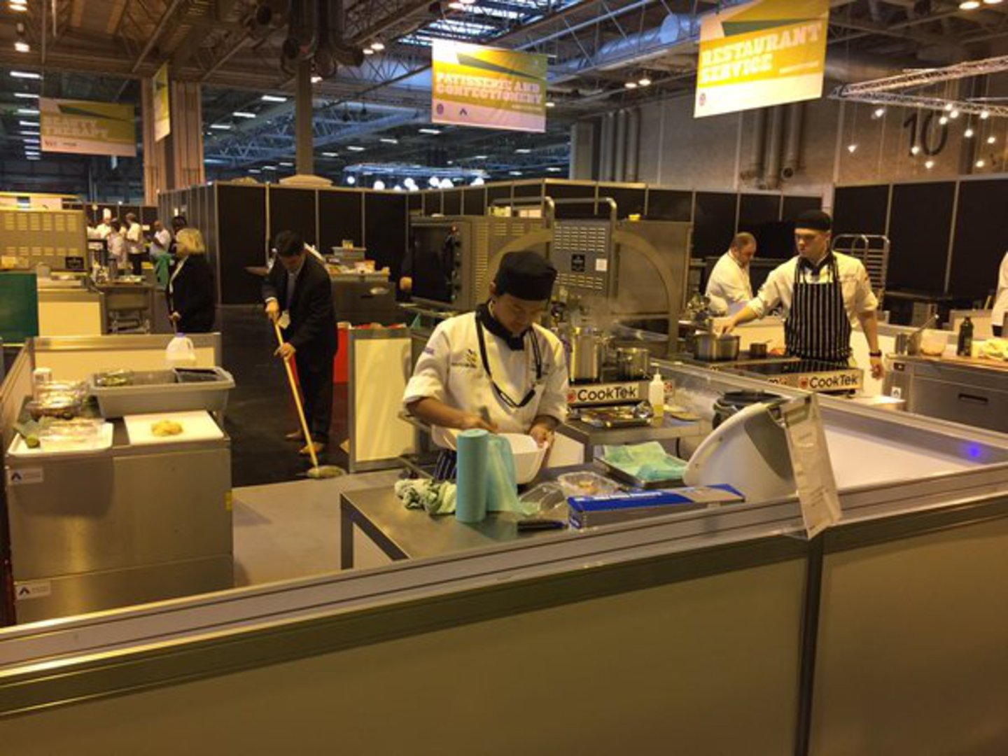 Ashesh busy in the Skills Show kitchen!