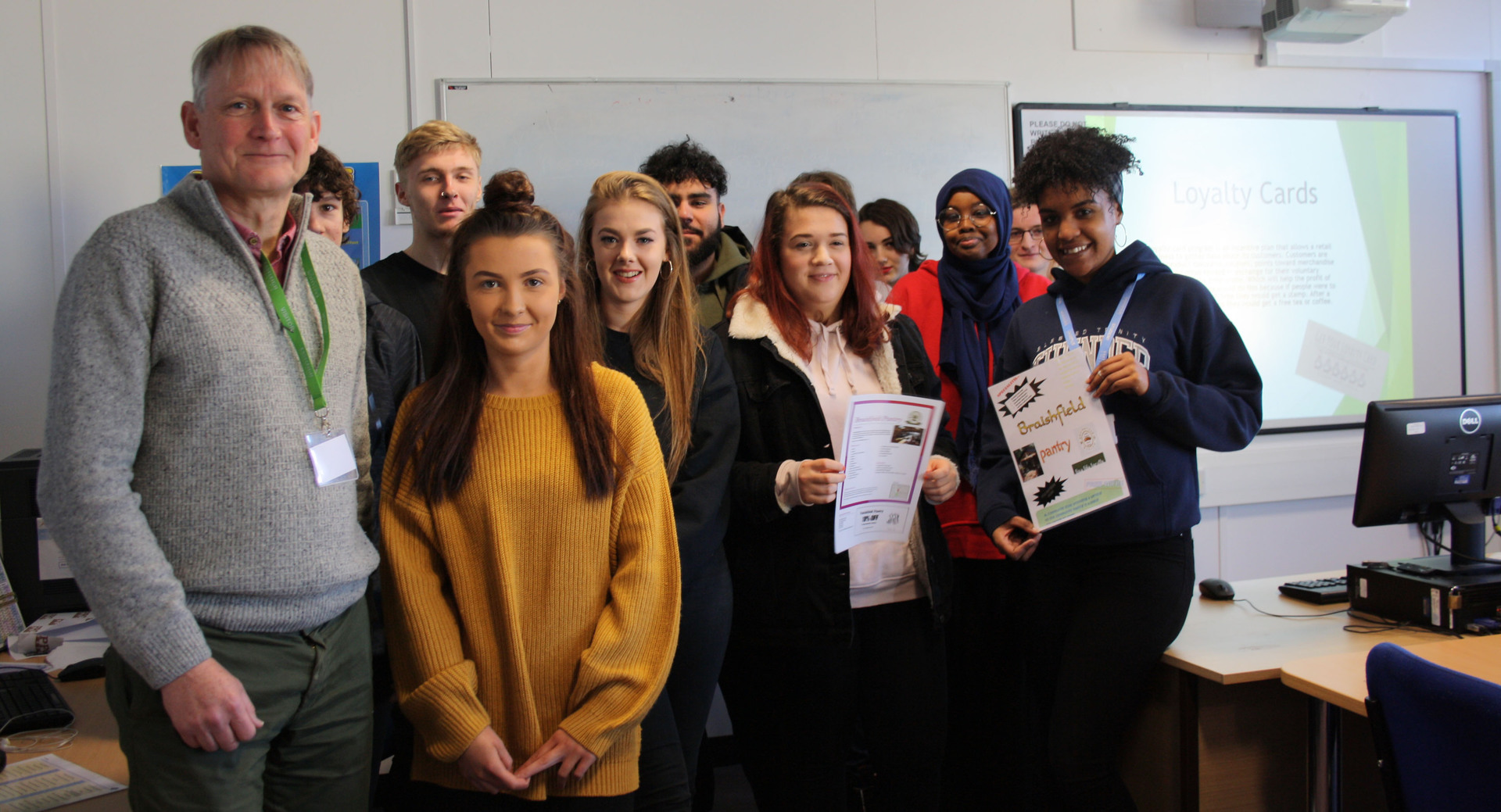 Students make profitability pitch to local organisation