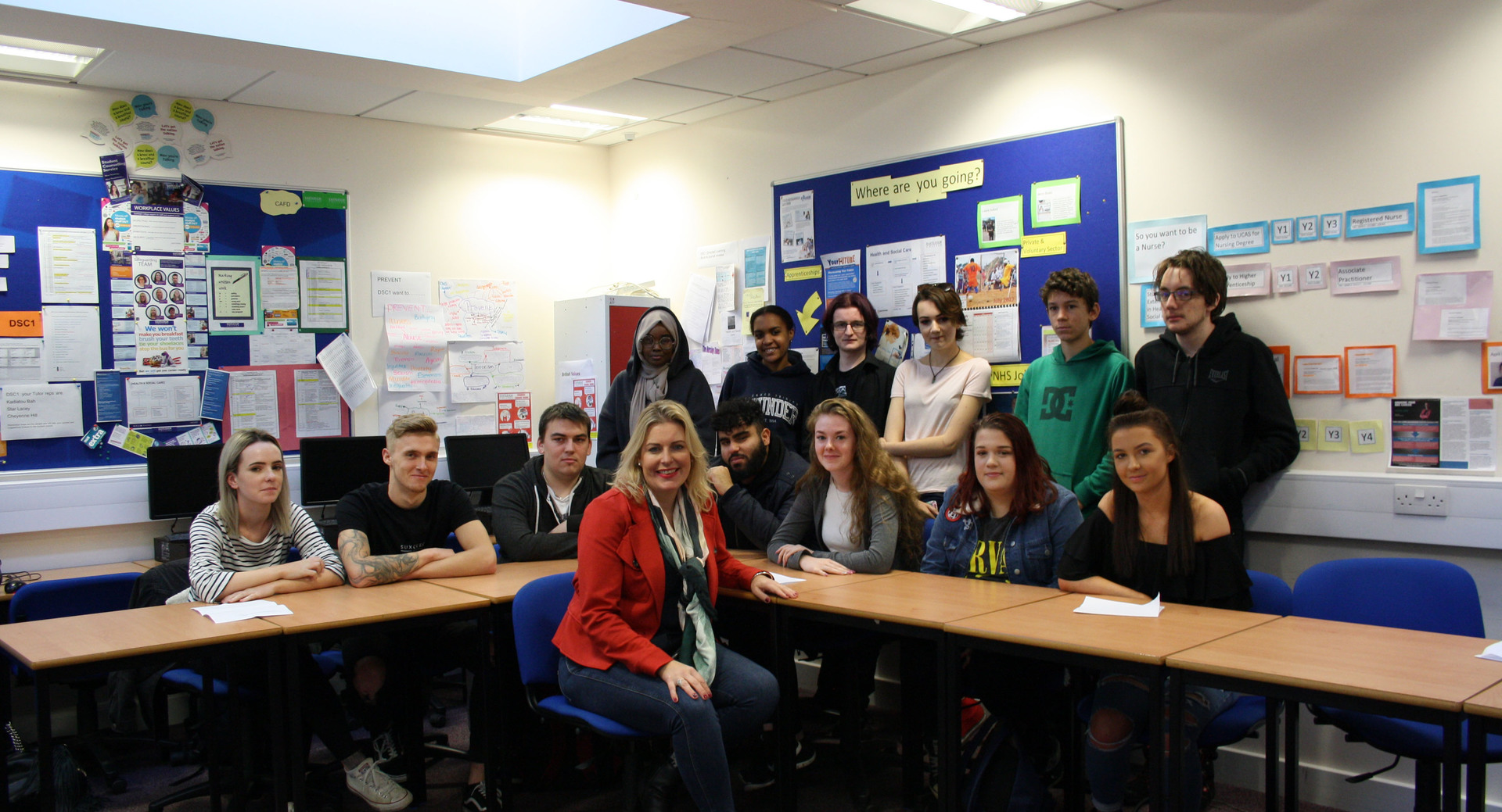 Local MP visits students during Parliament Week