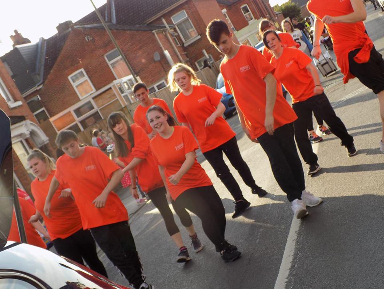 Dance students in full swing!
