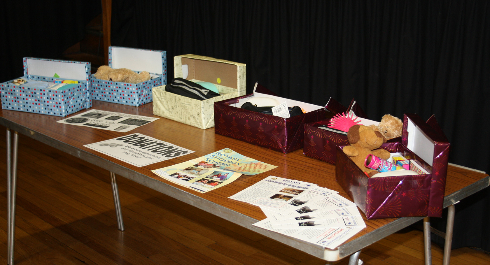 Business students host Winter Fair to support Rotary Shoebox Scheme